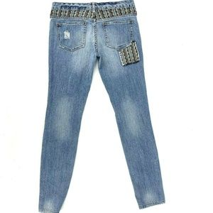 Free People Jeans - Free People The Patchwork Bohemian Skinny Jeans 27